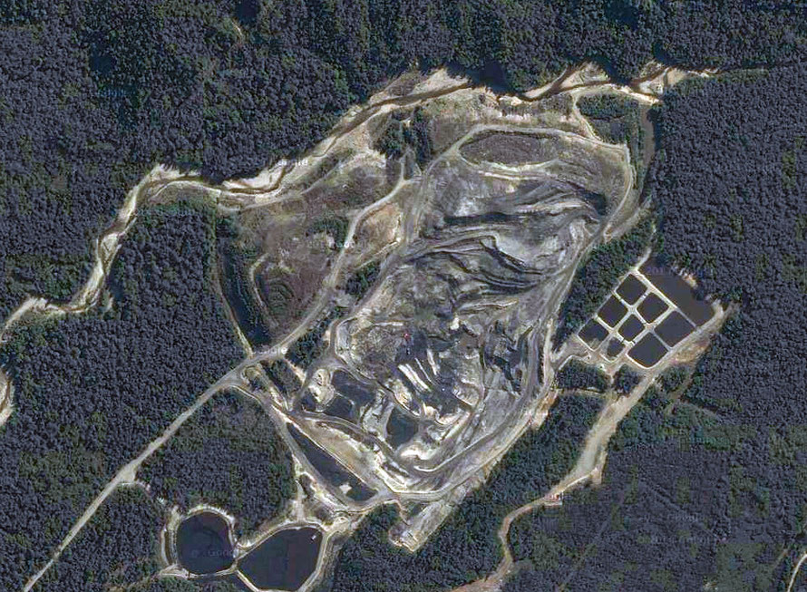 Giles Creek open-cast coalmine, Reefton