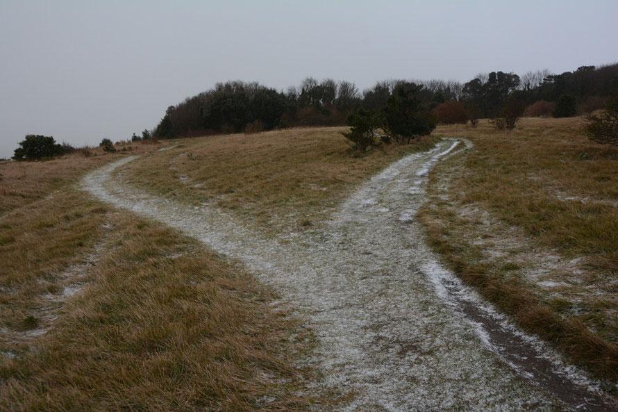 A smattering of hail soon gone.