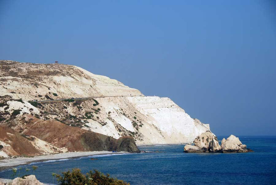 The dazzling cliffs at Cape Aspro