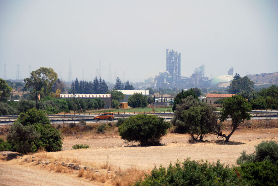Cement works at Vasilikos fuelling the inexorable construction boom.