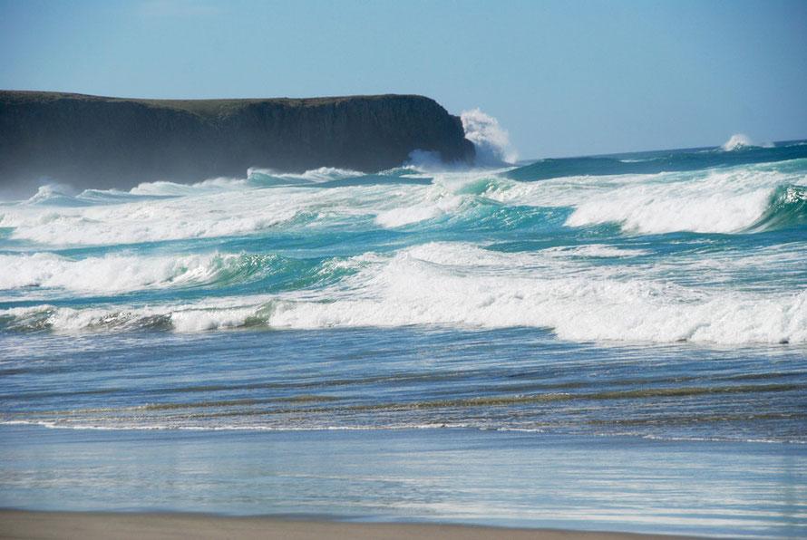 Victory Beach on the Otago Peninsula looking north to Te Whakarekairi