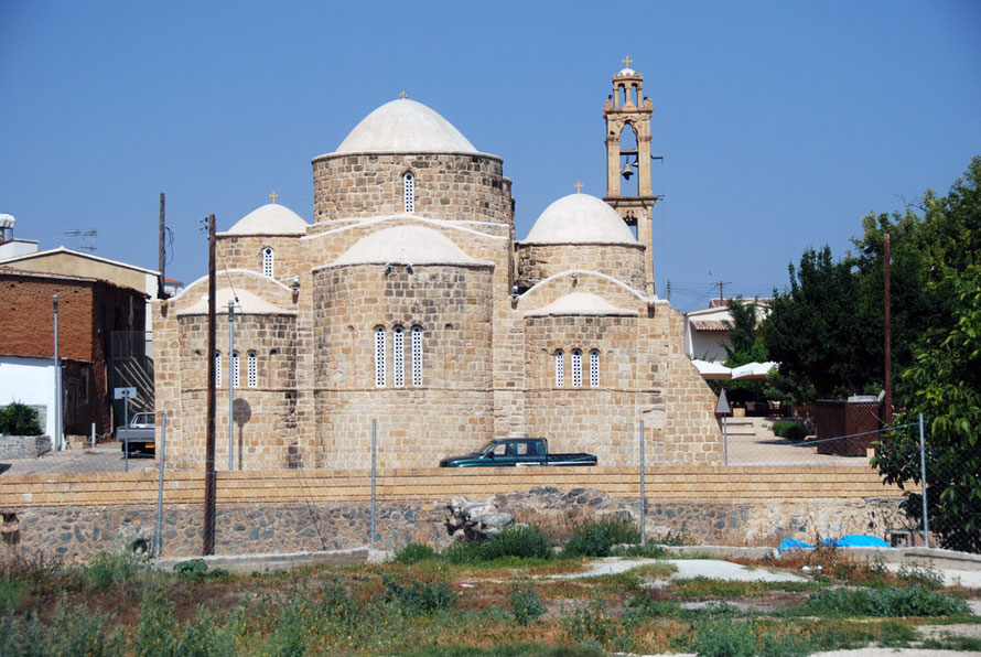 The five-domed Byzantine church at Peristerona (June 2012).