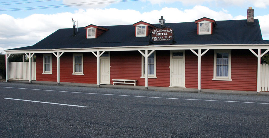 Heatherbell Hotel (est 1870) at Totara Flat on the road beyond Reefton
