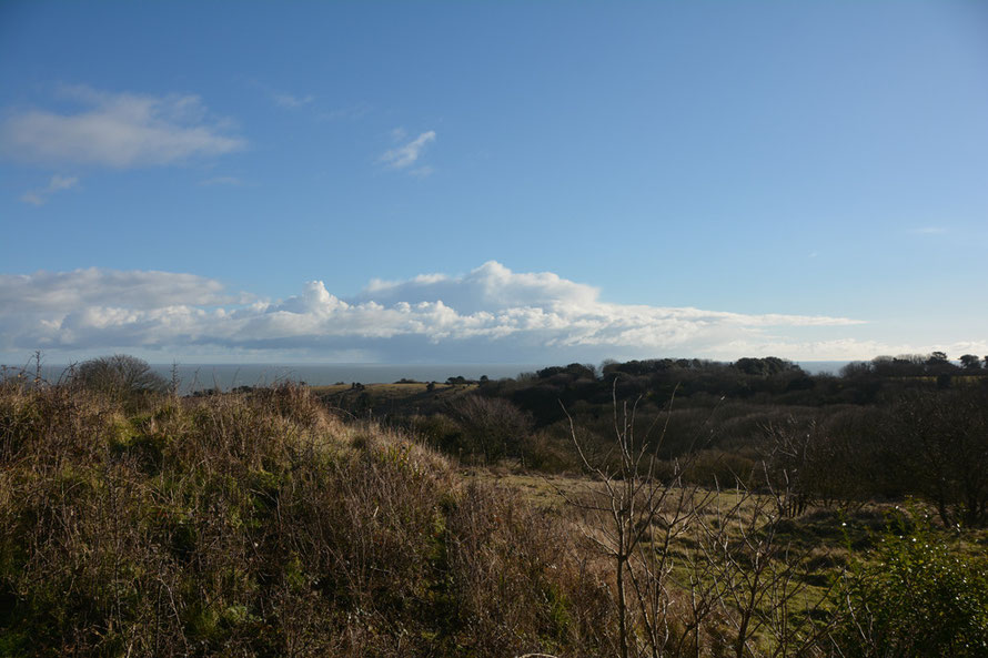 Cold but benign, I thought, looking over the sweep of the South Foreland and St Margarets Bay.