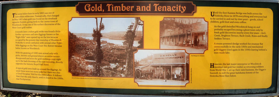 Interpretive signage (3) at Rimu, Westland.