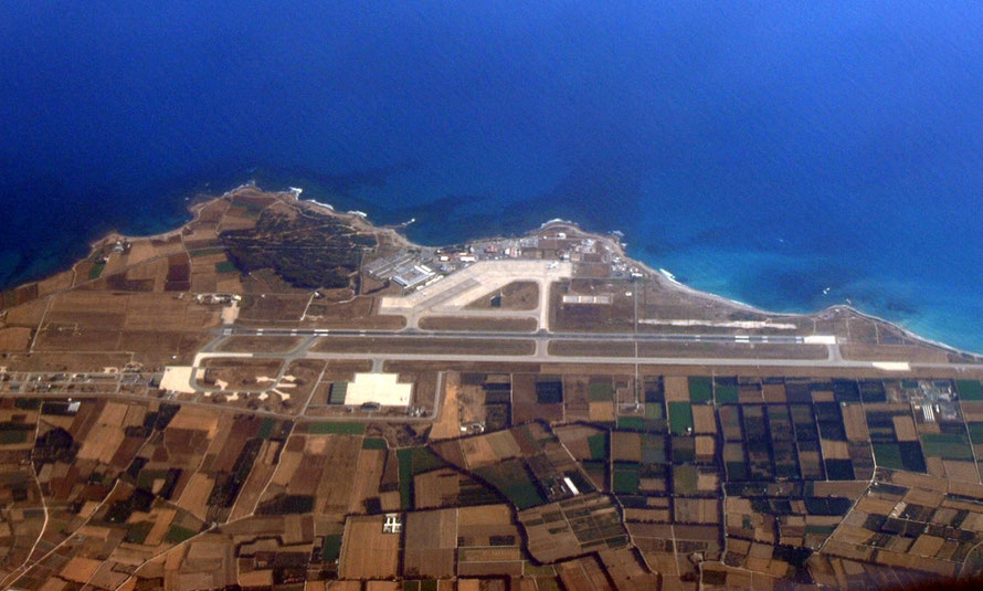Paphos airport from the air.