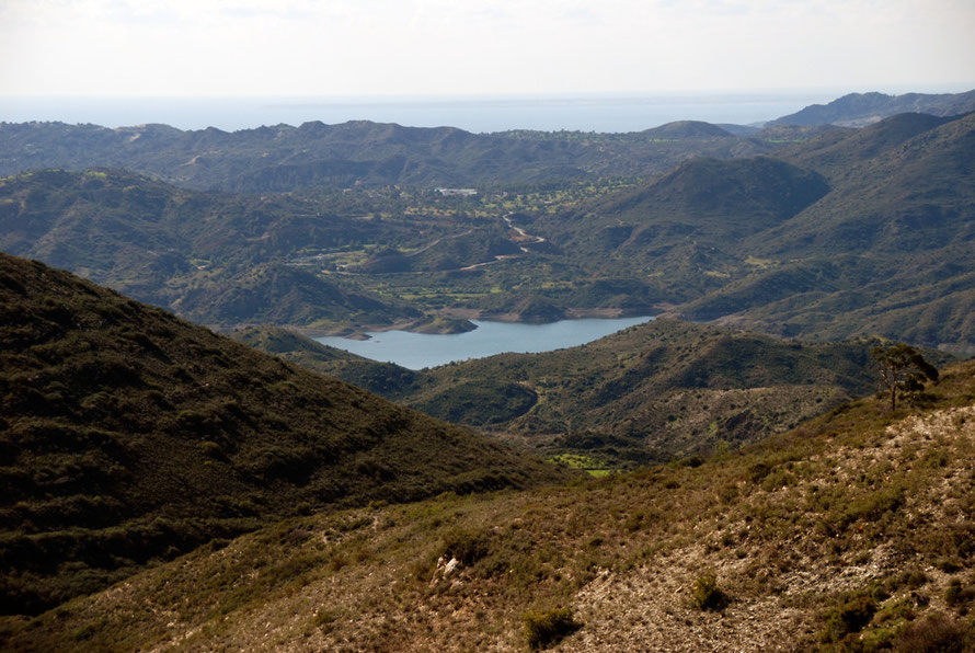 Looking down on Vasilikos Resevoir, January 2013