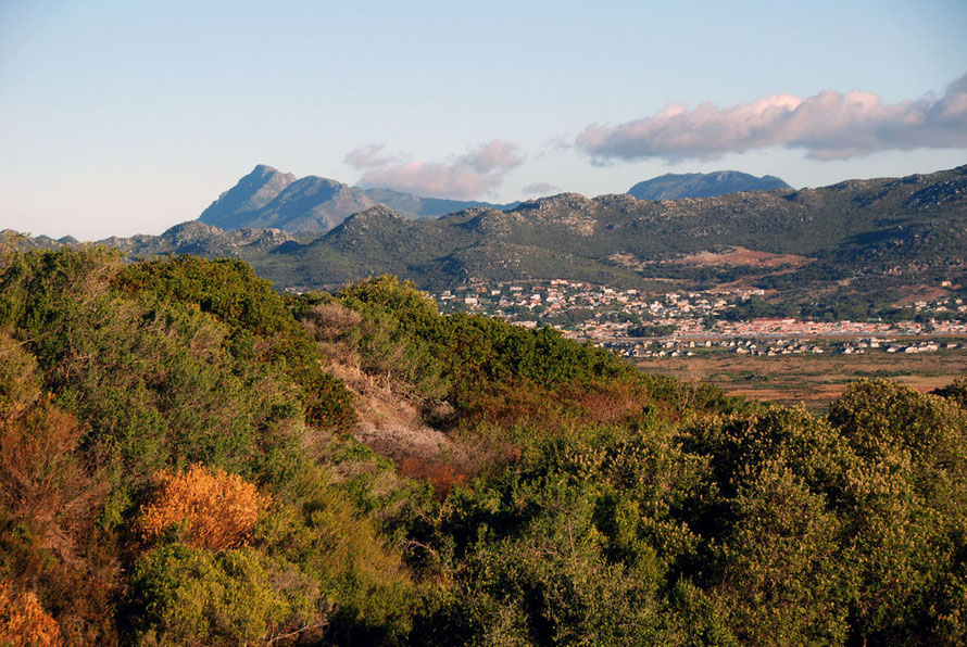Housing developments in the Cape Peninsula hills between Simon's Town and Komertjie