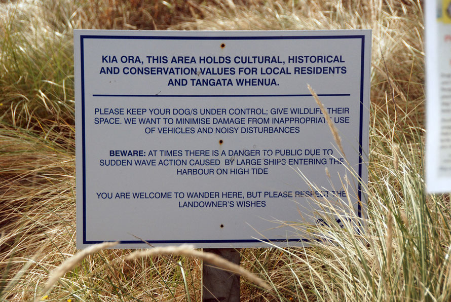 "Sign aksing for respect from visitors in Te Rauone Beach. Tangata whenua is a Māori term for the indigenous peoples of New Zealand and literally means ""people of the land"", from tangata, 'people' and"
