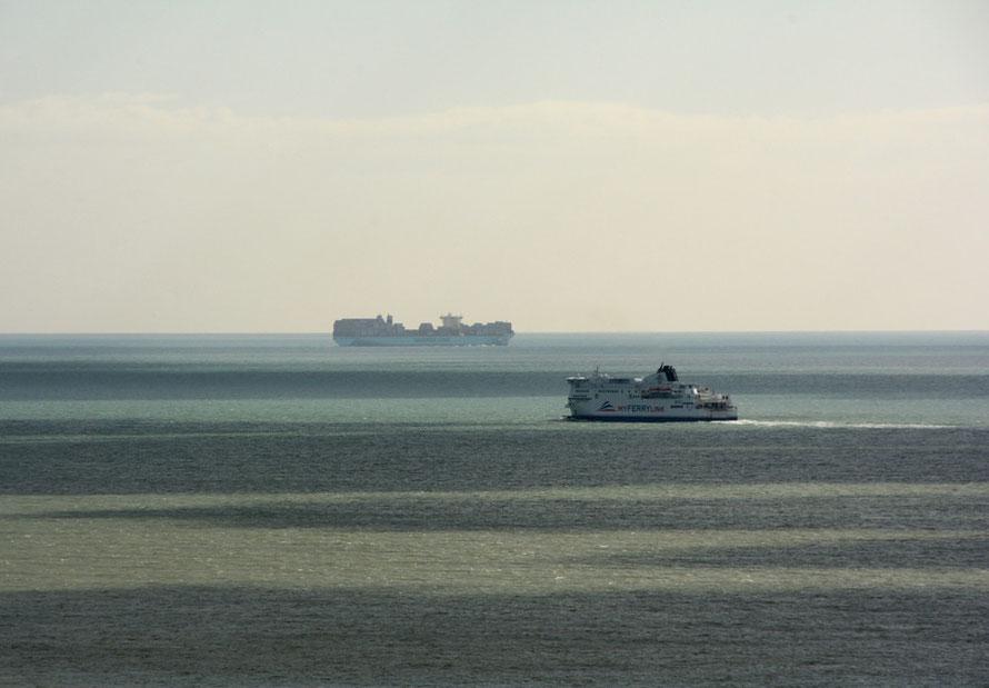 Ships, Dover Strait.