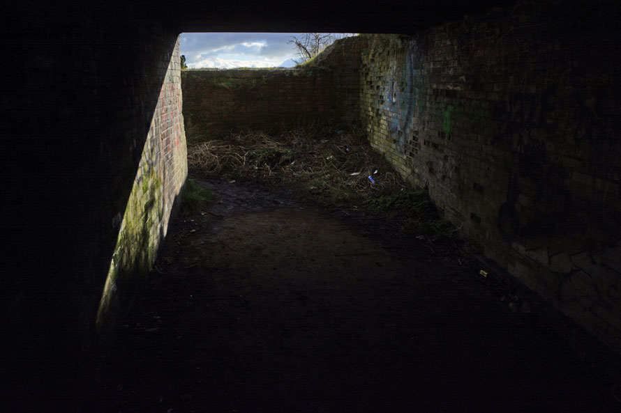 Inside the entrance to to the 9 inch gun battery on the South Foreland.