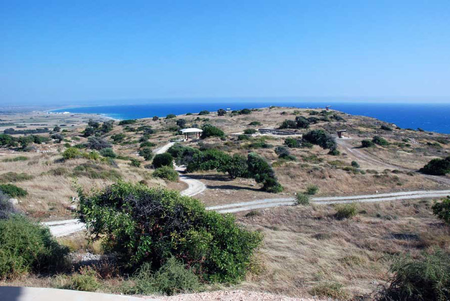 The high and steep sided plateau that protected Kourion from attack