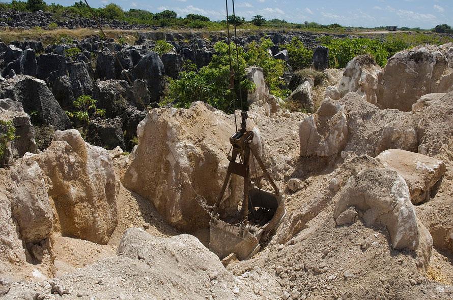 """The site of secondary mining of Phosphate rock in Nauru, 2007. (Photo- Lorrie Graham/AusAID  WikiComm"