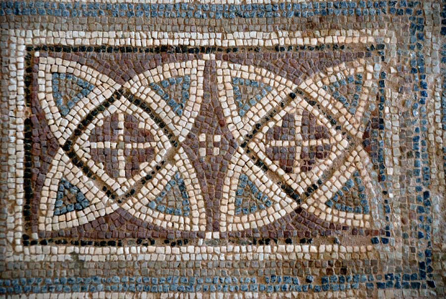 The simple beauty of a 5th century Roman mosaic decoration, Kourion