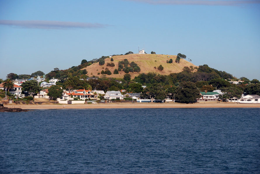 Old volcanic cone - Maungakiekie (One Tree Hill) - at North Head, Devonport, Auckland Harbour.