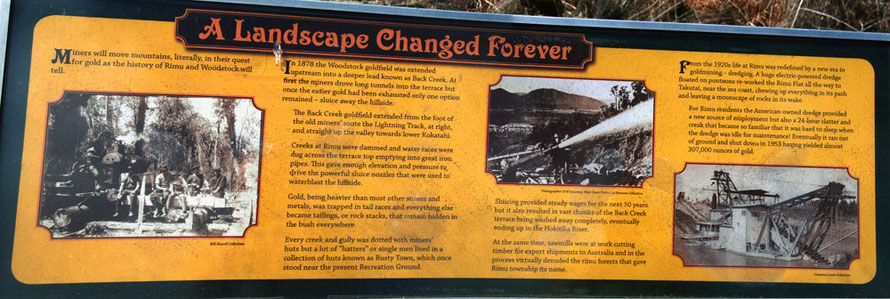 Interpretive signage (1) at Rimu, Westland.