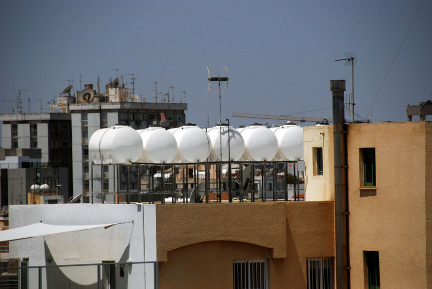 Water tanks and rooftops, Nicosia.