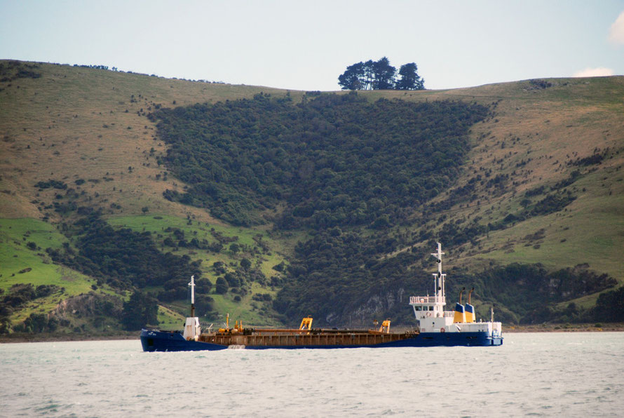 A Sand dredger in Otago Harbou