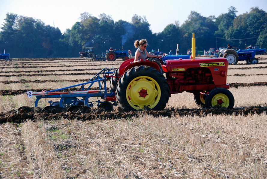 One woman in a man's world (East Kent Ploughing Match 2011)