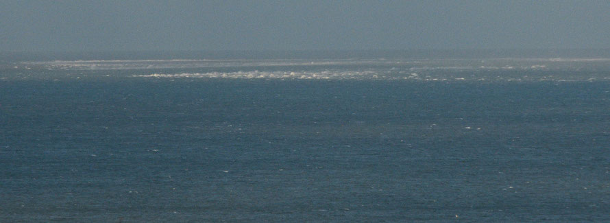 Sea breaking over the Goodwin Sands.