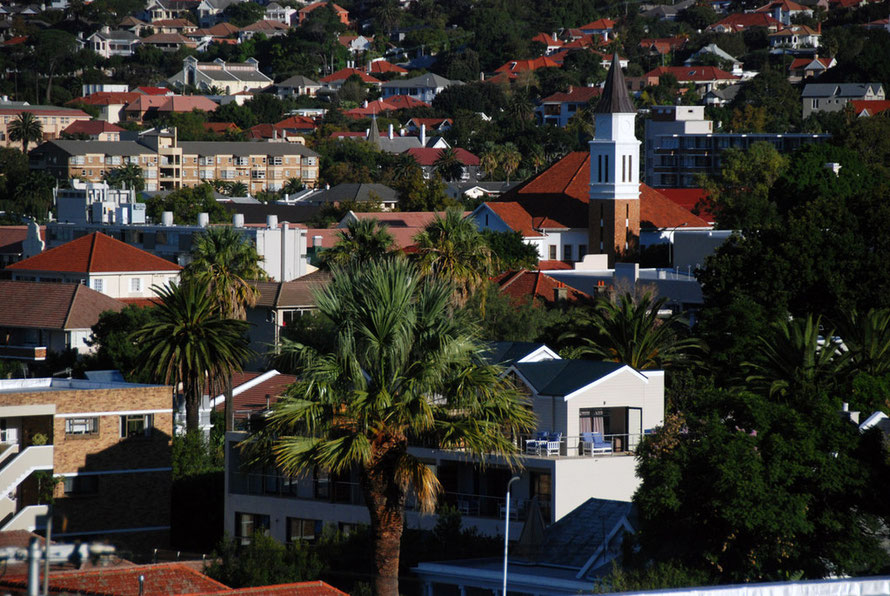 Looking from Tamboerskloof to the Gardens neighbourhood