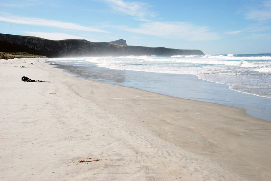 From here to eternity: nearlest landfall travelling east from Victory Beach is Chile (Bluff to Santiago 5797 miles)