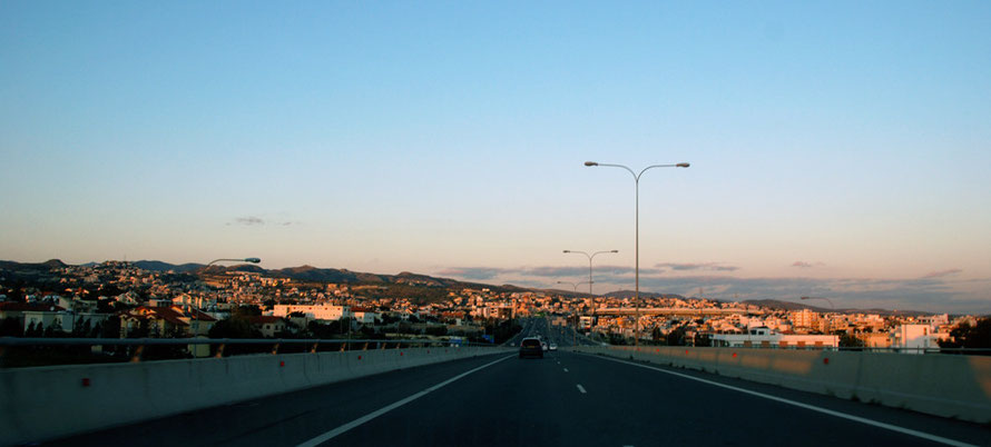 The ever expading suburbs of Limassol in evening light.