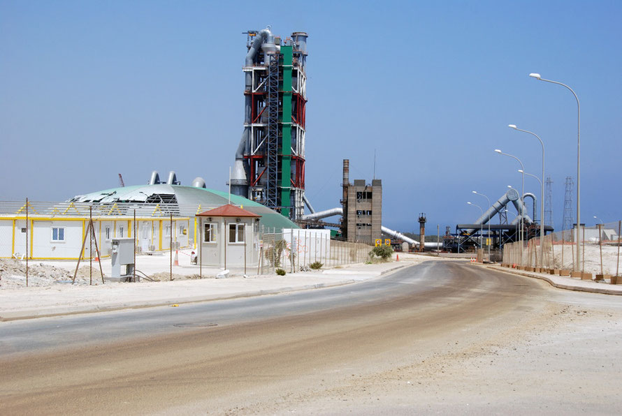 New cement plant near Vasilikos.