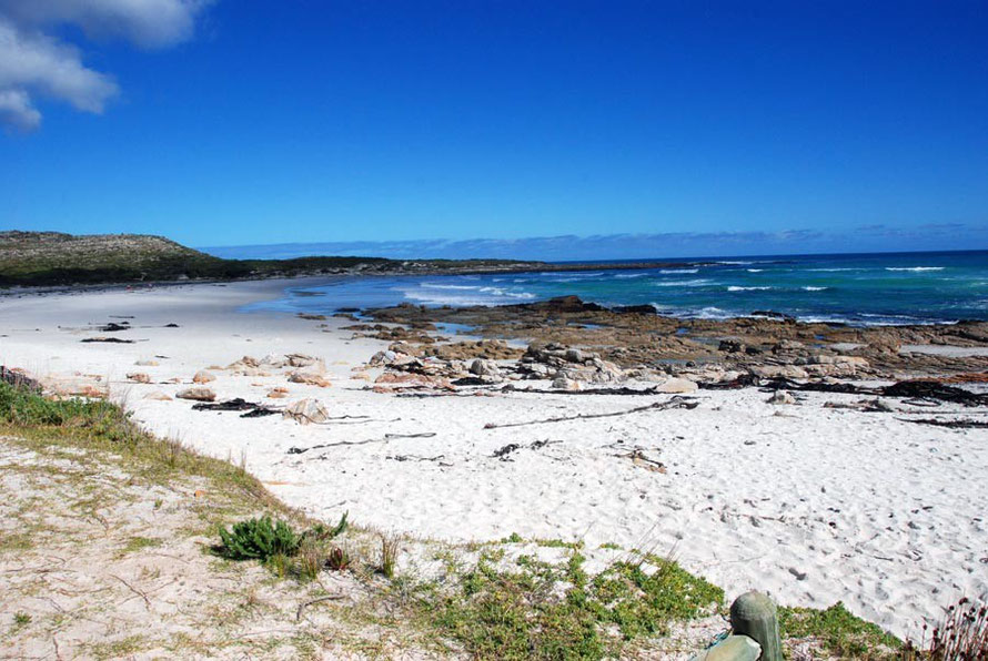 Scarborough beach on the west side of the Cape Peninsula