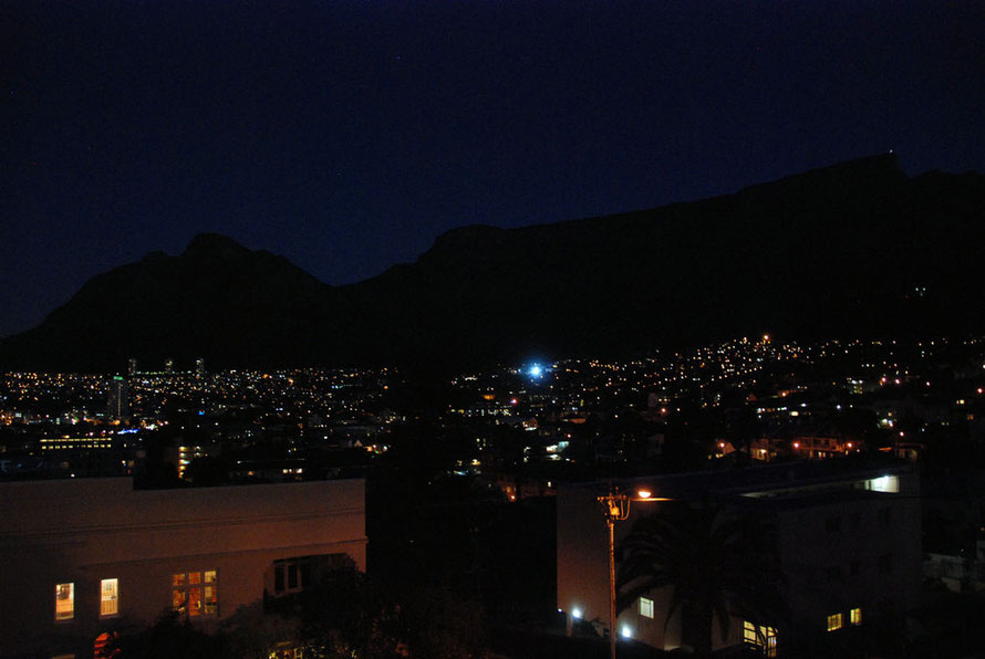 Table Mountain at night from Tamboerskloof