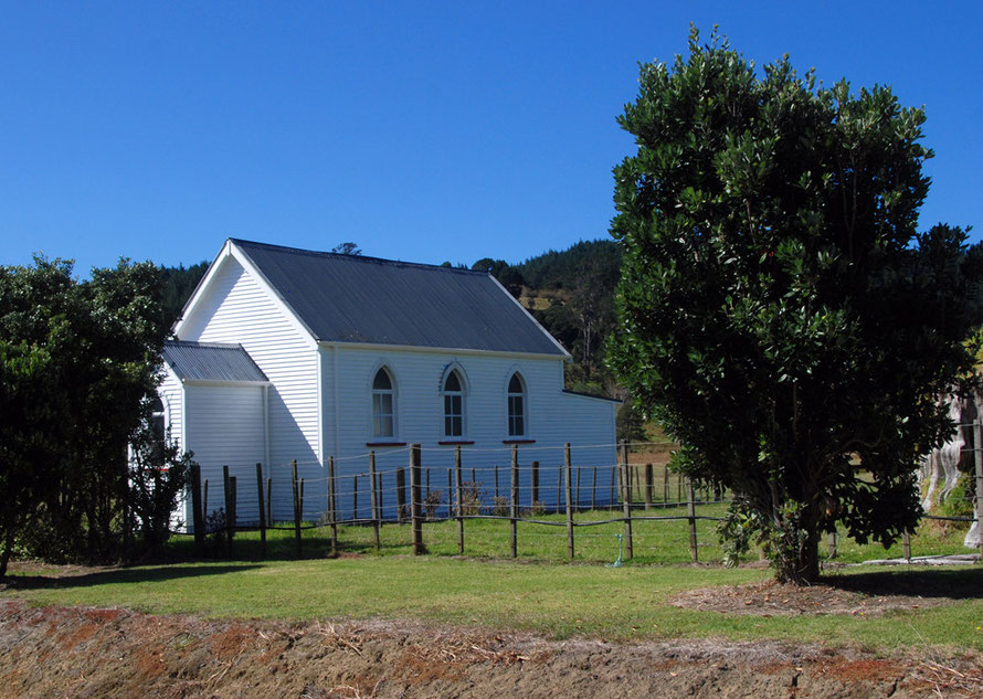 Pakiri Chruch on the Wellsford to Pakiri road.