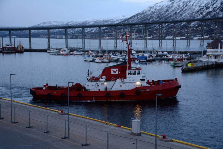 Tugboat Lupus in Tromso Harbour.