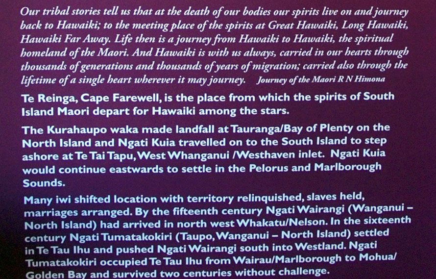 Maori and Golden Bay: Display panel from the Aorere Centre, Collingwood