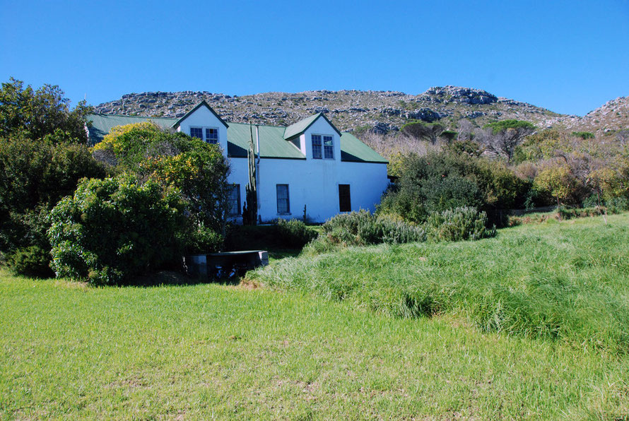 The 250 year old Wildskutbrand farm, now the Cape Farmhouse restaurant, Cape Peninsula