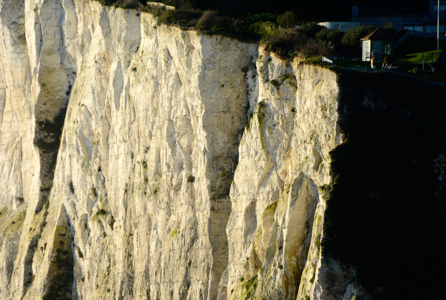 Light-catching cliffs, South Foreland, St Margaret's Bay 28 November 2015.