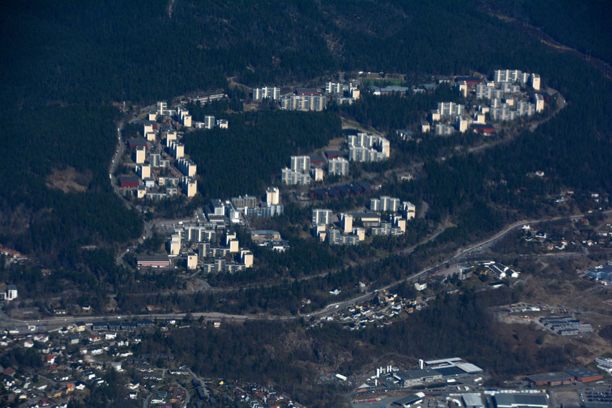Romsås development on the northern edge of Oslo. The borough has one of the highest immigrant populations in Norway with 35% of the population from over one hundred countries.
