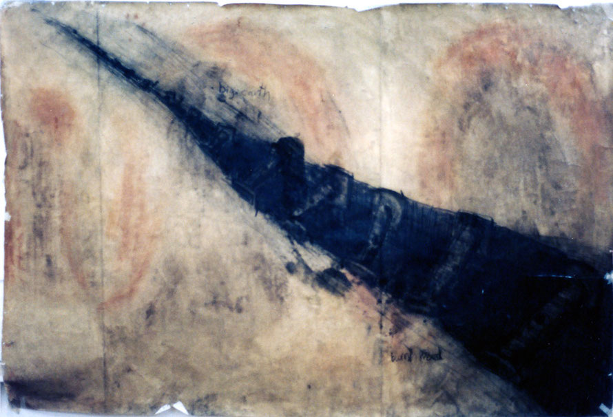 Big Earth 1995 8ft x 3 ft (natural pigments, charcoal) Fergus Murray Drawing