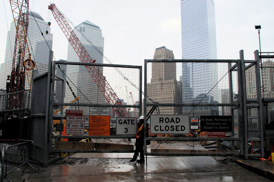 The site of the World Trade Center in New York's Financial District, 2006.