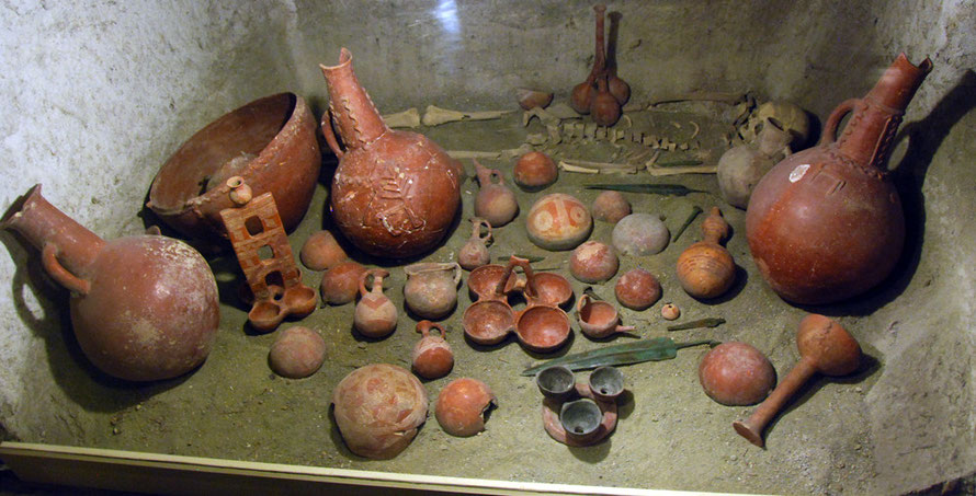 Tomb recreation, Cyprus Museum, Nicosia.