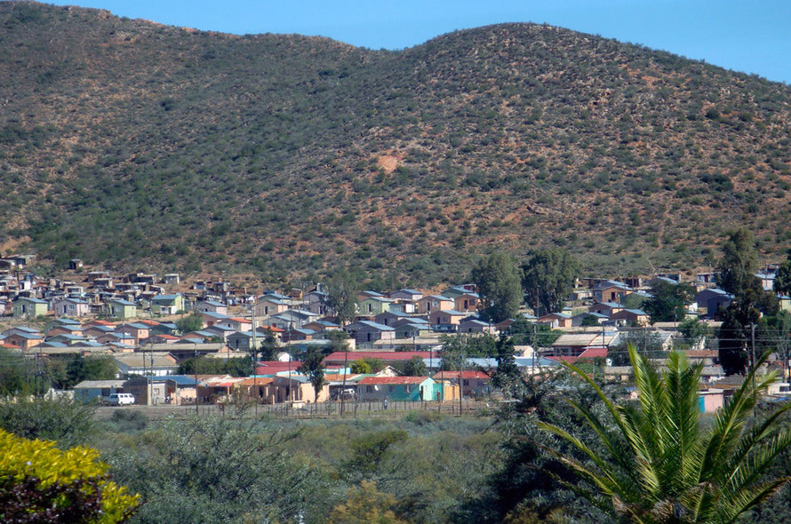 Nkqubela township, outside Robinson- the fourth poorest township in the Western Cape.(c) Peg Murray-Evans