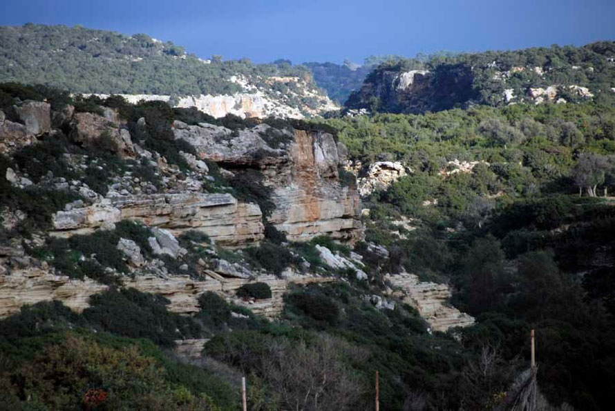 Looking towards Akamas Gorge