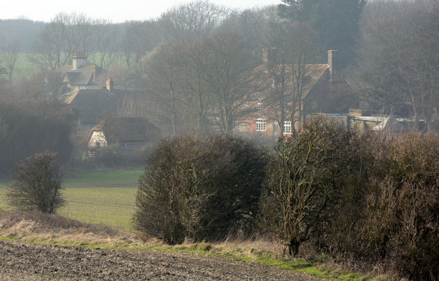 Wanstone Farm in the cold misty air of January day, St Magarets-at-Cliffe.