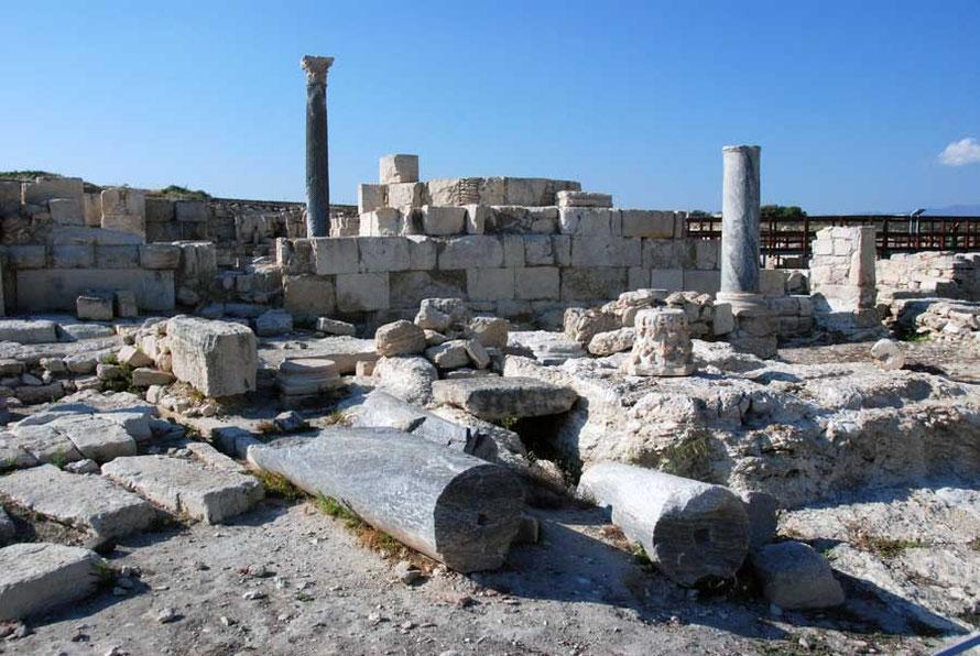 Remains of the Roman agora like a wonderfully random sculpture park, Kourion