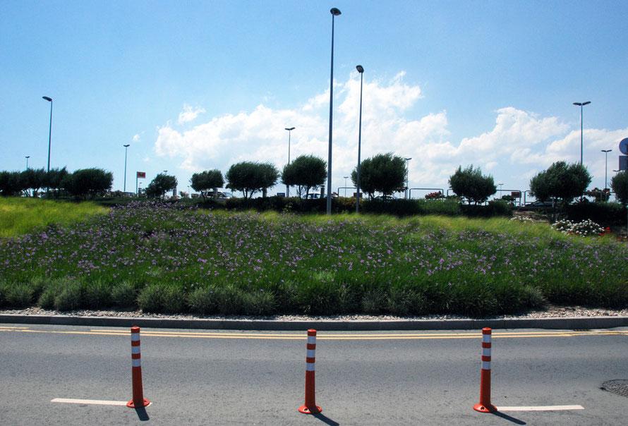 Larnaca Airport approach.