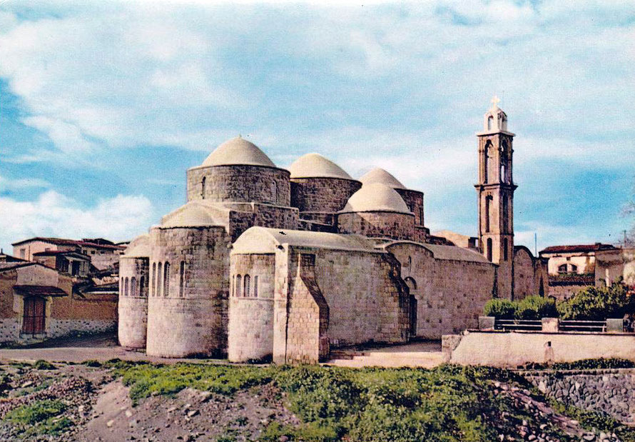 Peristona Church portrayed in 1963 Mona postcard