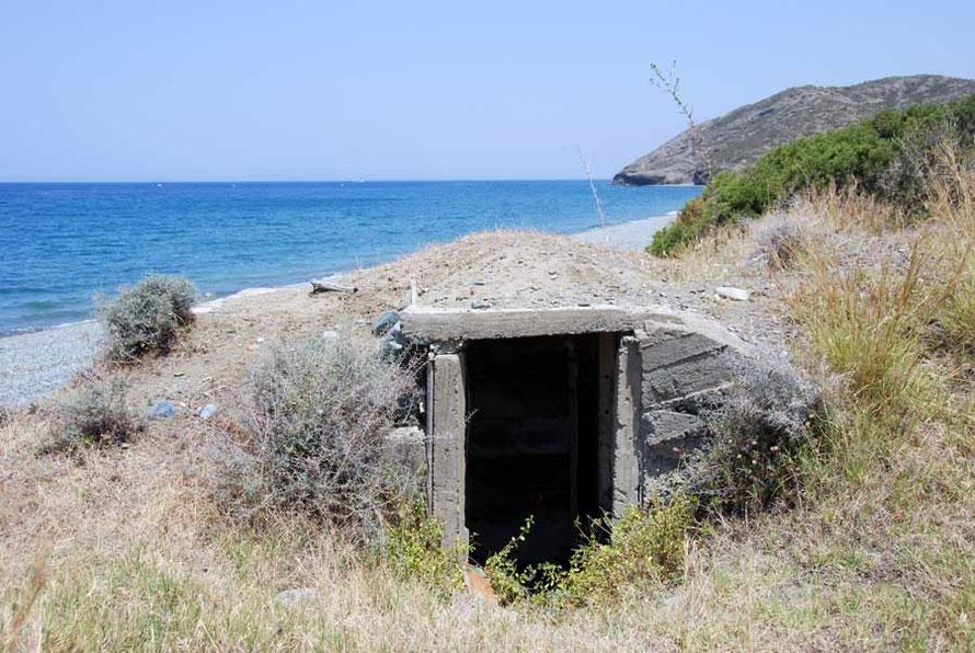 Abandoned bunker, Kato Pyrgos beach