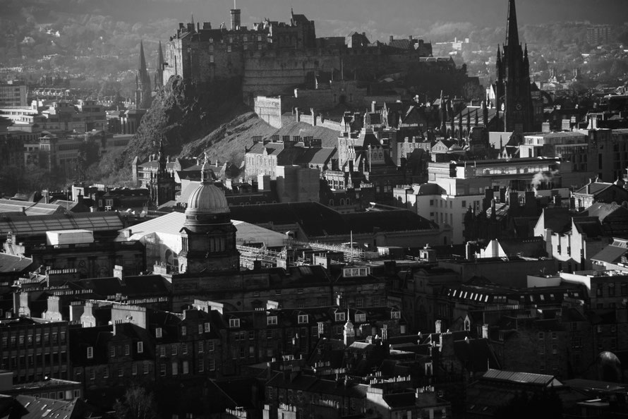 View of the Old Town and Castle, Edinburgh from Salisbury Crags.