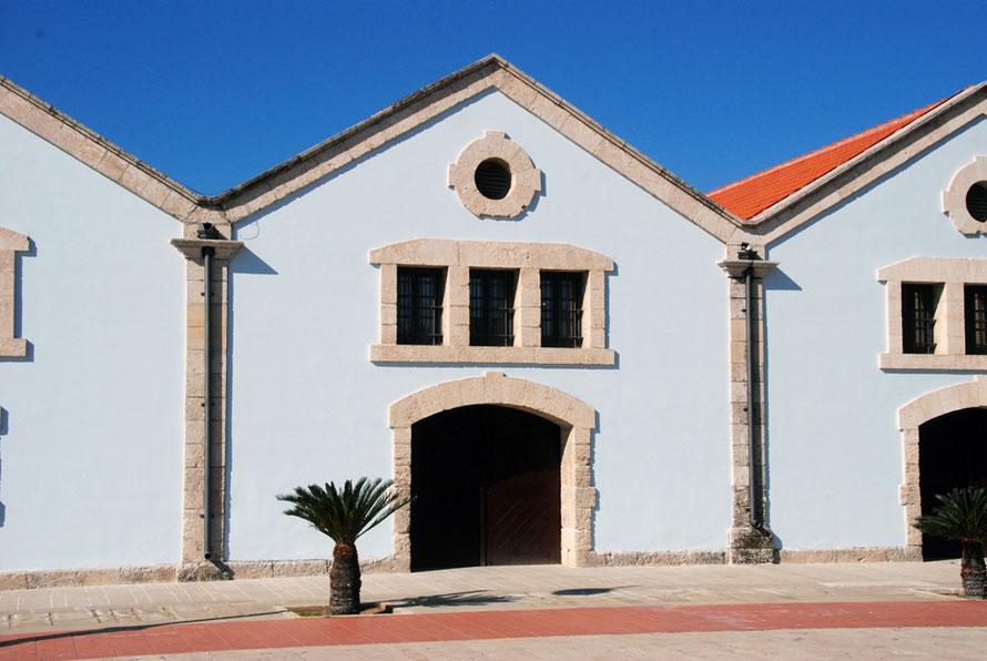Restored customs warehouses, Europa Square, Larnaca.