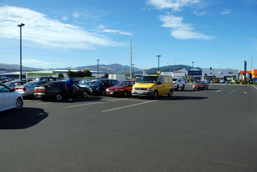 The car park at Countdown supermarket in Dunedin