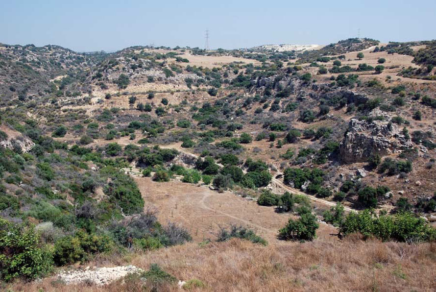 Same valley, different view: (Khirokitia June, 2012).